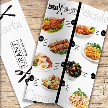 Menú Cartas para restaurantes